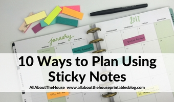 10 ways to plan using sticky notes tips ideas planner hacks diy color coding bill blog reminder appointment list post it note 3m