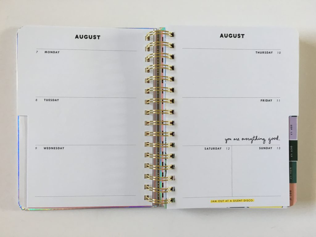 ban do weekly planner inside layout weekly spread holidays pre printed sunday start colorful review pros and cons horizontal unlined