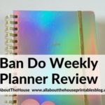 Ban Do Weekly Planner Review (Horizontal Weekly Planner) (Plus Video Flipthrough)