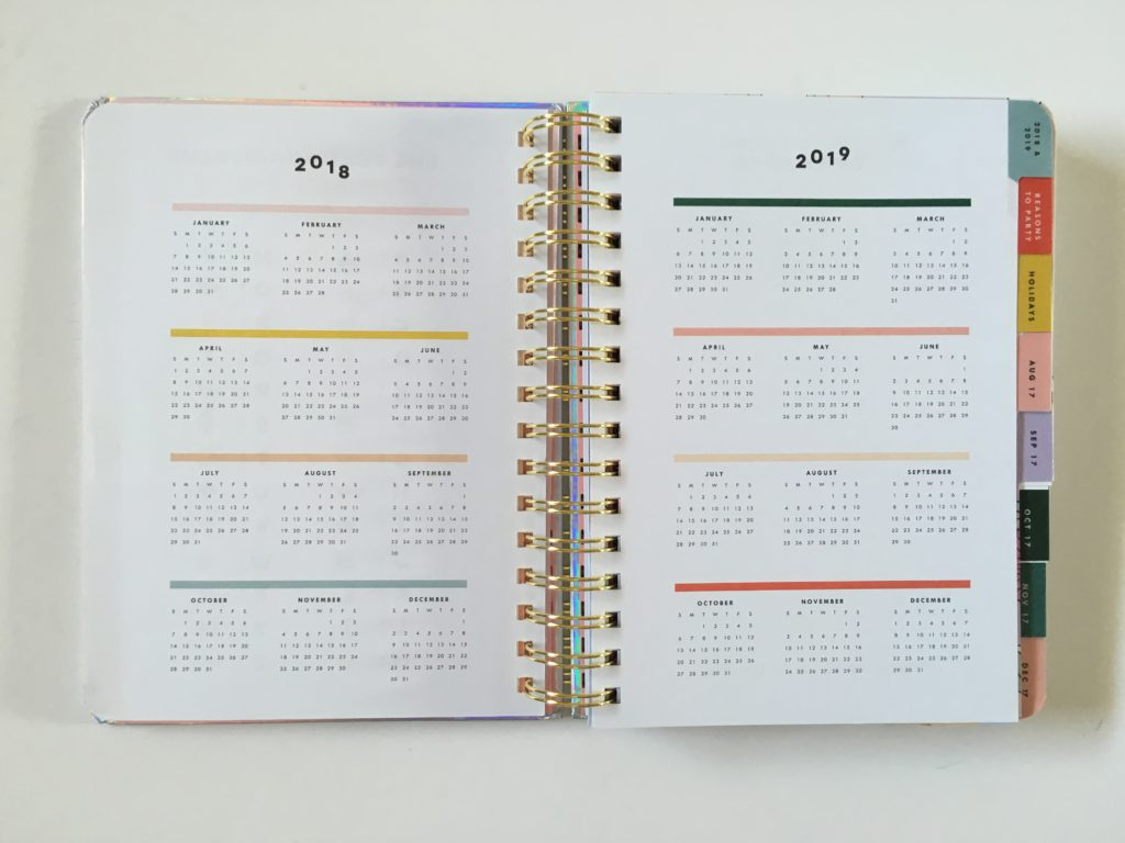 ban do weekly planner review 207 2018 dates at a glance annual planning colorful horizontal weekly spread