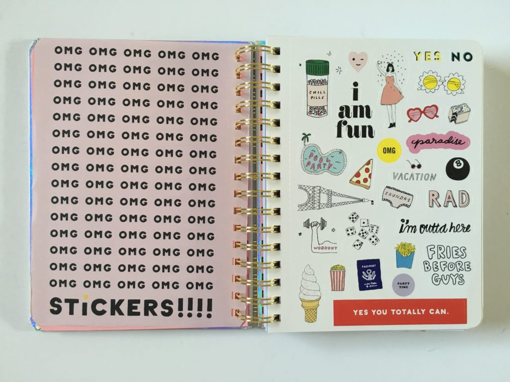 ban do weekly planner review stickers horizontal academic year 2017 2018 student minimalist colorful
