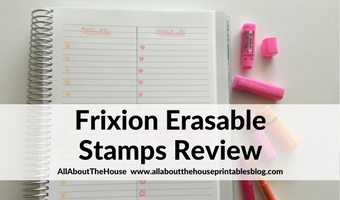 frixion erasable stamps review planner supplies favorite best color coding heart star flag reminder alternative planner sticker