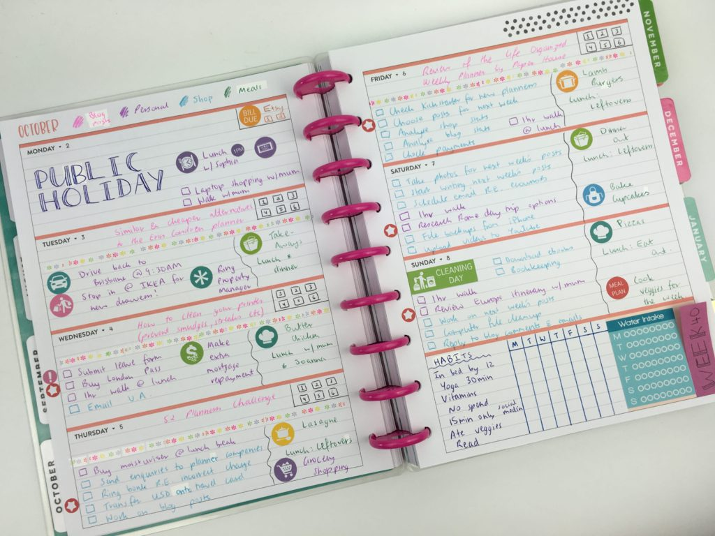 happy planner horizontal review mambi pros and cons sticker decorating minimalist habit tracker bujo color coding ideas weekly spread-min
