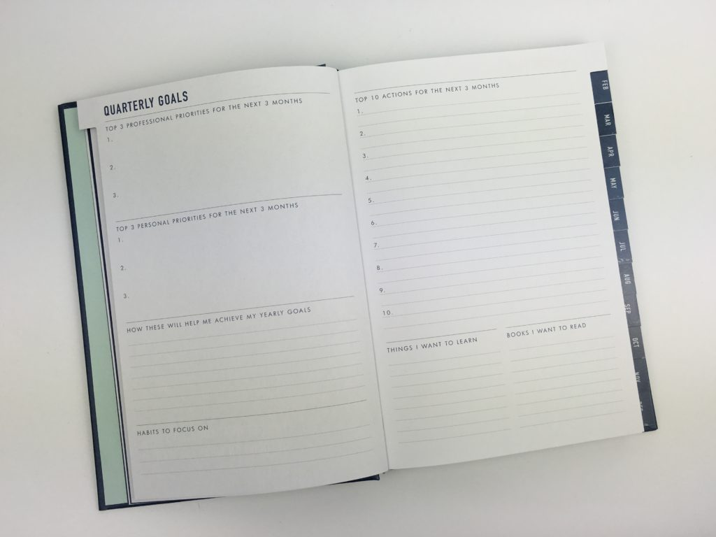 kikki k goal setting planner yearly reflection 2 page weekly spread diary agenda australia pros and cons video flipthrough worth the cost