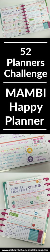 mambi happy planner horizontal weekly spread layout ideas plan with me bullet journal bujo planning challenge diy
