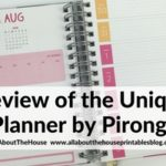 Weekly Planner from Unique Planners by Pirongs Review (including video walkthrough)