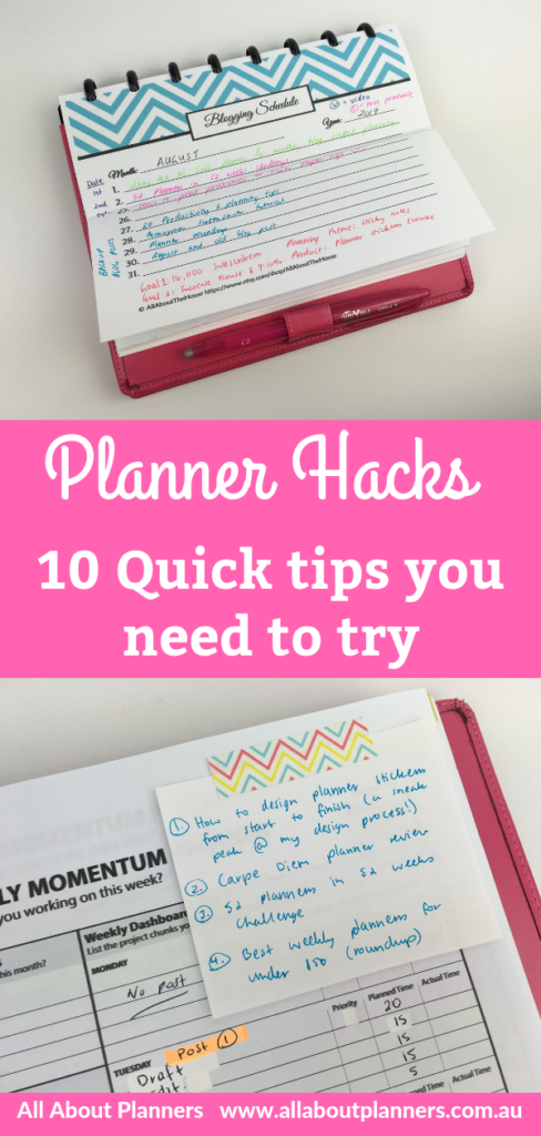 planner hacks quick tips you need to try weekly planner daily planner inspiration ideas agenda organizer