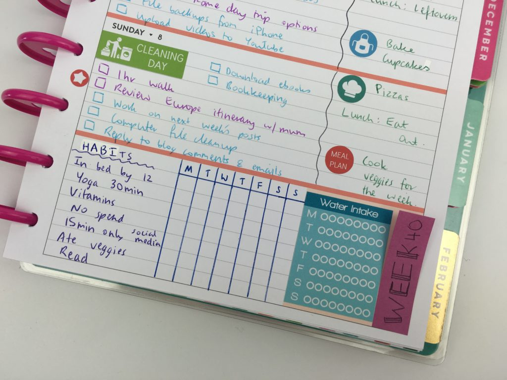 planner sidebar ideas sticky notes habit tracker mambi happy planner review pros and cons horizontal plan with me-min