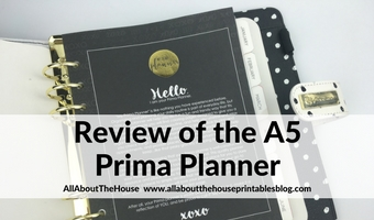 prima planner review a5 undated black and white 6 ringbound pros and cons 1 page weekly spread choosing perfect planner binding