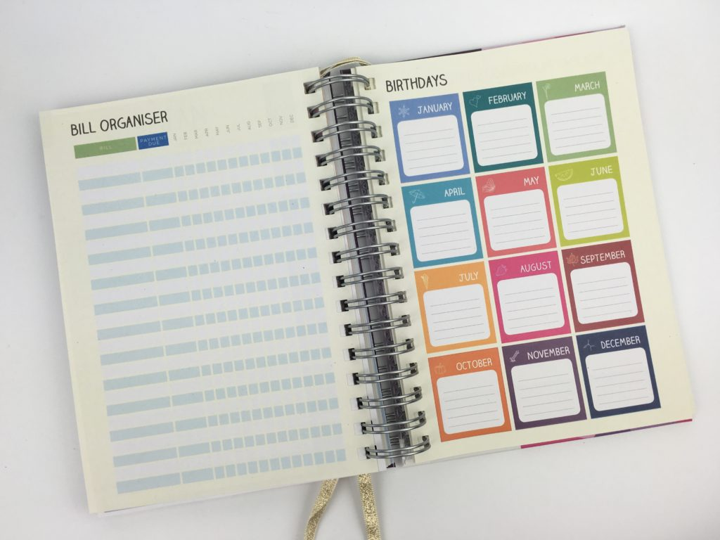 priongs life planner review custom personalised add on pages bill due important pros and cons affordable wire colorful color coding horizontal vertical lined