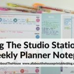 Weekly Planning using Studio Stationery notepad (Week 39 of the 52 Planners in 52 Weeks Challenge)