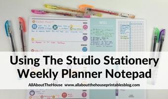 Weekly Planning using Studio Stationery notepad (Week 39 of the 52 Planners in 52 Weeks Challenge)