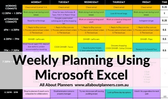 Weekly planning using Microsoft Excel (week 41 of the 52 Planners in 52 Weeks Challenge)
