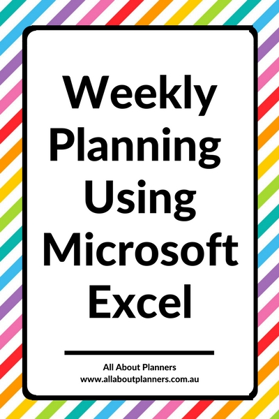 weekly planning using microsoft excel tutorial organization planning tips ideas hacks inspiration color coding apps