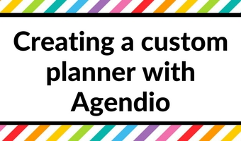 Creating a custom, personalised planner with Agendio