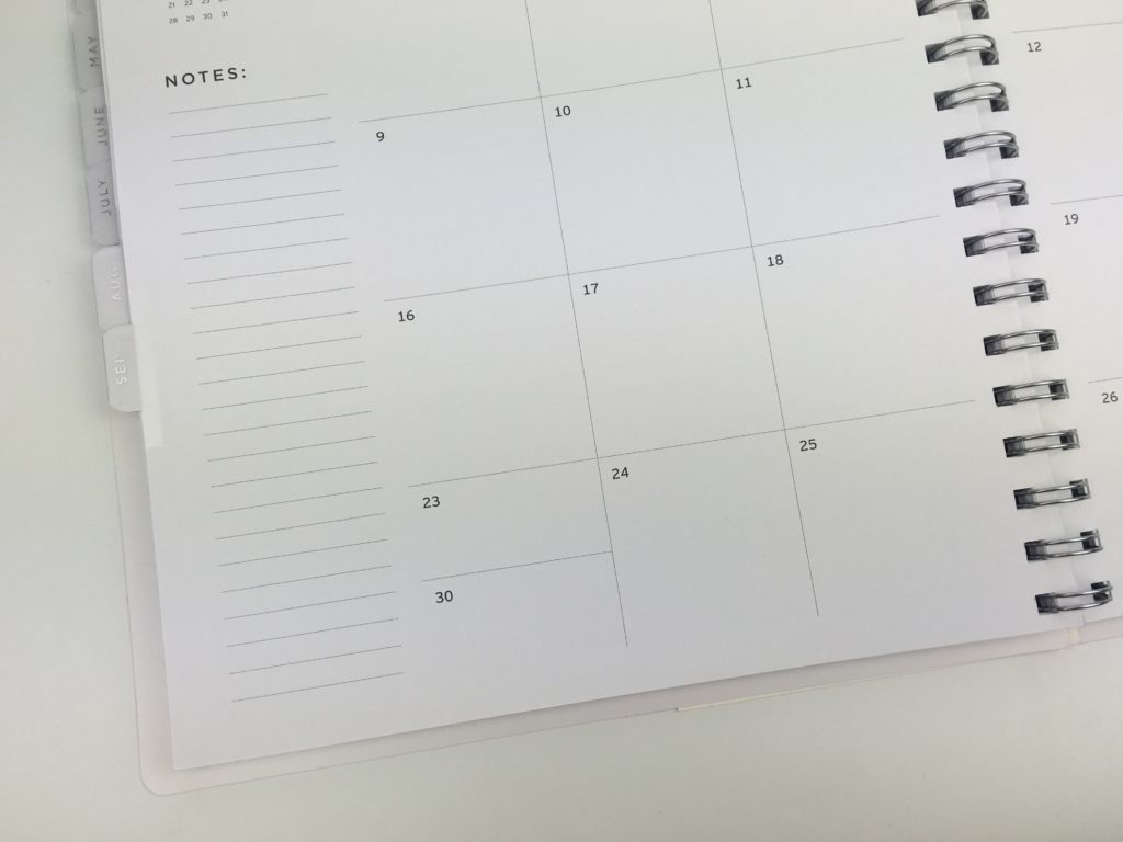 american crafts planner review aussie planner addict planning tips ideas monthly calendar letter size simple black and white horizontal 2 page spread