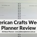 American Crafts Weekly Planner Review (Pros, Cons & a video walkthough)