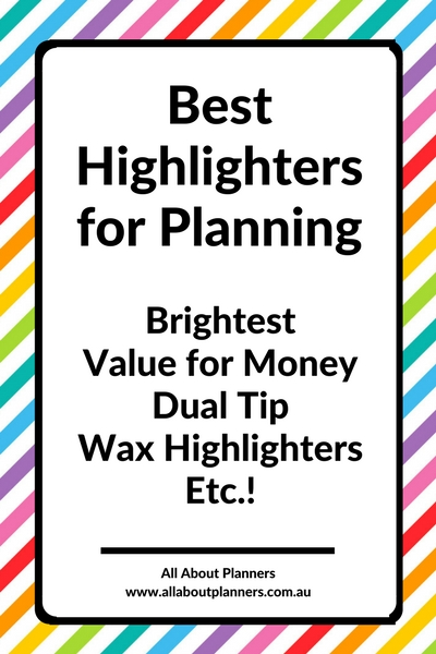 best highlighters for planning color coding tips ides inspiration wax gel review bright value for money dual tip