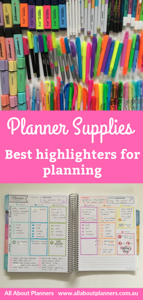 best highlighters for planning recommendation tips color coding rainbow chisel tip all about planners