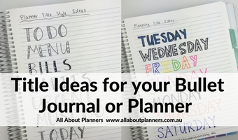Minimalist Planner Decorating: Title Ideas for your Bullet Journal