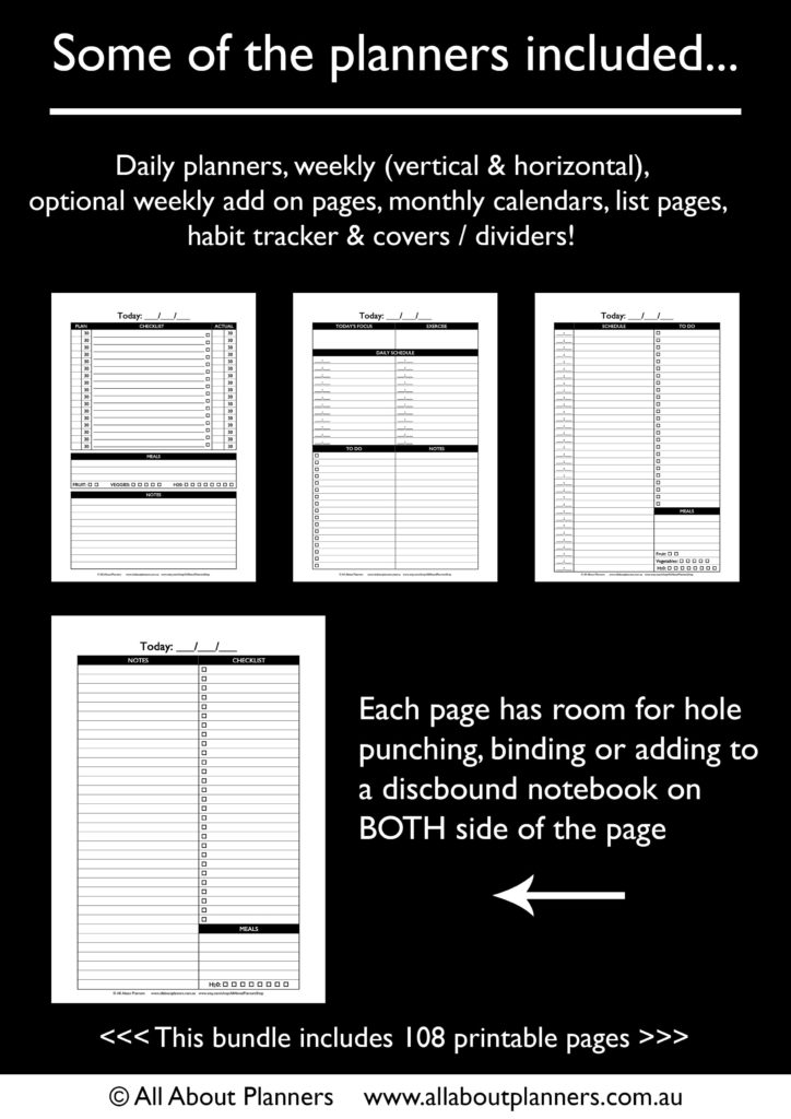 create a custom planner pages insert refills diy template download daily day to a page sunday monday week start tutorial-min