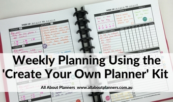 Using the Create Your Own Planner (Week 49 of the 52 Planners in 52 Weeks Spread)