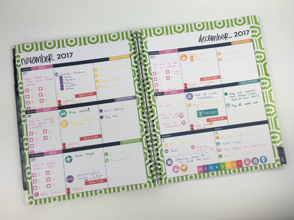 dabney lee for blue sky planner review 52 planners in 52 weeks challenge rainbow blog checklist sticker decorating ideas simple minimalist bright colors