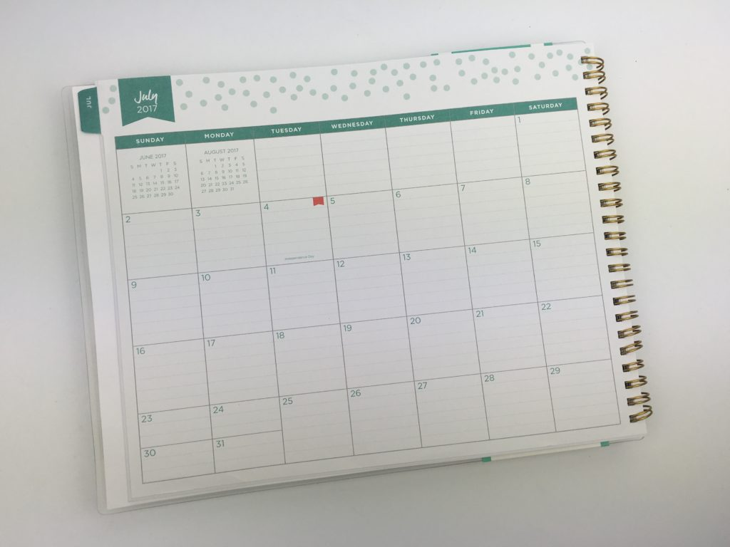 day designer for blue sky monthly calendar lined writing space landscape cheap affordable mom planner weekly checklist
