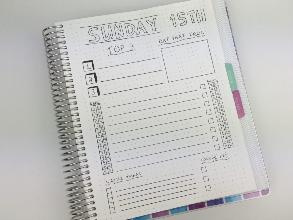 daily planning bullet journal style using a plum paper grid dot notebook all about planners. Black Bedroom Furniture Sets. Home Design Ideas