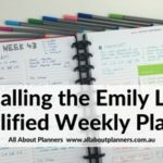 Using the Emily Ley Weekly Plannner (Week 43 of the 52 Planners in 52 Weeks Challenge)