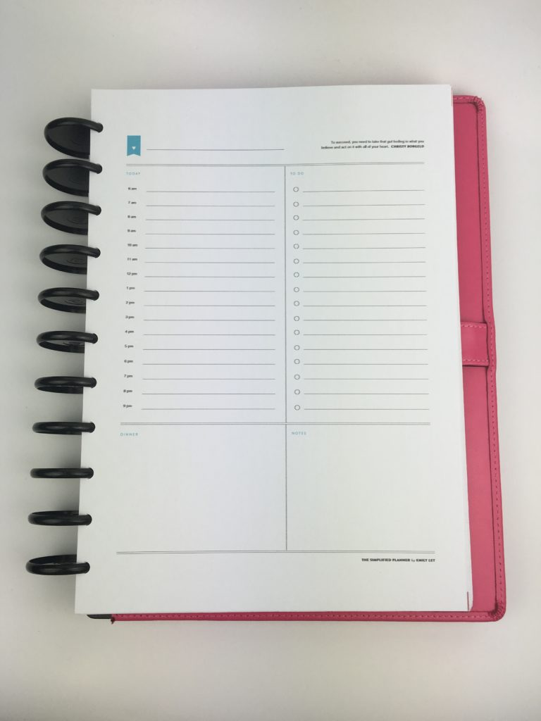 emily ley daily planner review day to a page schedule to do list free printable planner organization arcing notebook tips ideas inspiration tips hacks