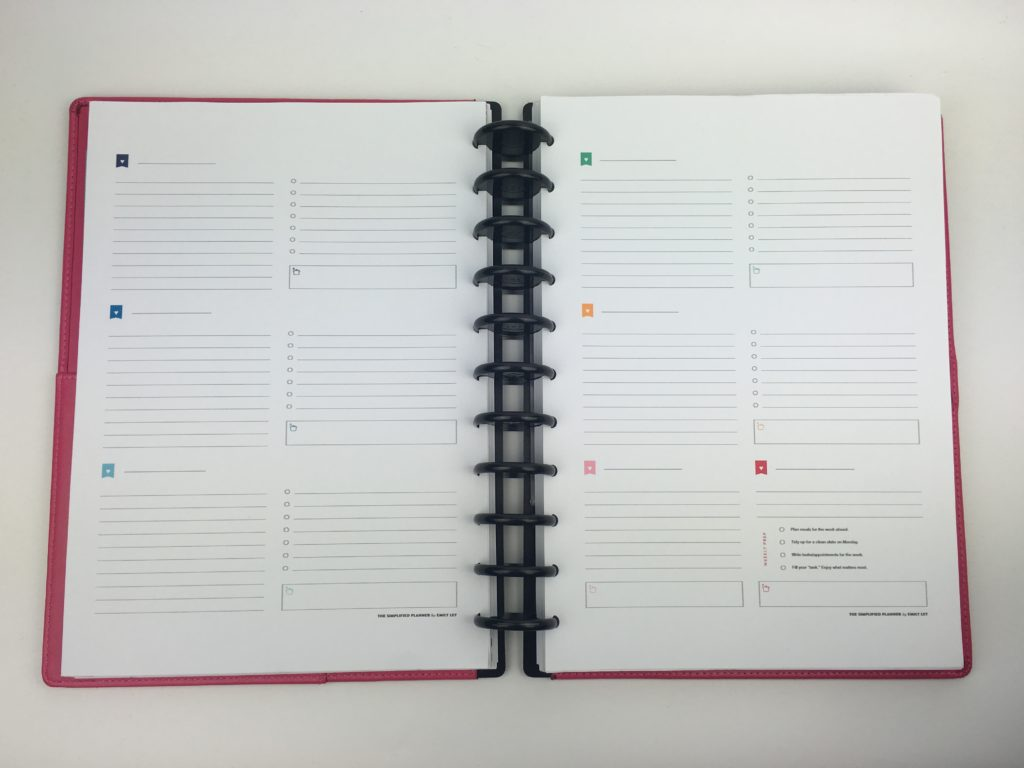 emily ley simplified planner weekly arcing my planning tips ideas hack inspiration color coding free printables roundup review