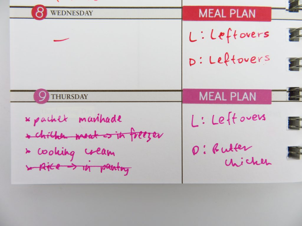 how to meal plan using your planner ideas organization tips color coding planner sticker diy sarah pinto planner review horizontal creative shopping list groceries-min