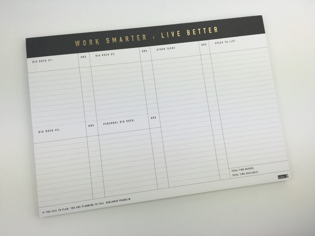 kikki k planner review work smarter live better notepad plan by category rather than by day color coding
