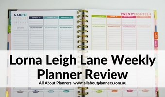 lorna leigh lane weekly planner review rainbow vertical weekly spread colorful cheaper alternative to erin condren australian