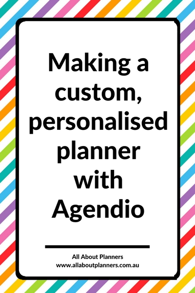 making a custom personalised planner with agendio weekly planner honest review pros and cons daily tutorial