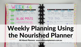 nourished weekly planner review 2 page spread vertical color coding washi tape decorating highlighters favorite pens minimalist
