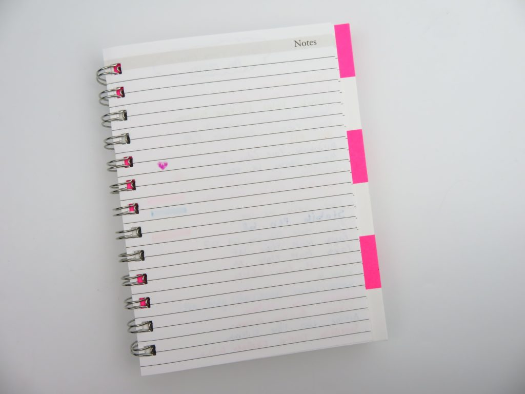 planner pen testing sarah pinto mini small spiral bound preppy stripe cover honest review pros and cons-min