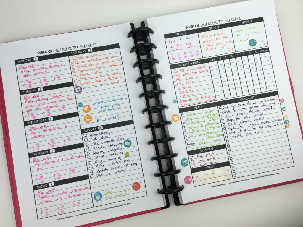 The create your own planner kit 108 printable pages to for Design my own planner