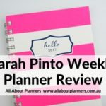 Sarah Pinto Planner Review (Horizontal Weekly Planner)