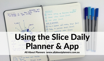 slice planner review app daily planner notebook bullet journal grid dot paper 2 pages per day daily spread