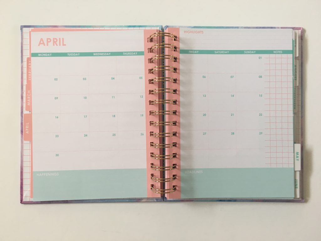 typo monthly calendar weekly planner review 2018 diary organizer agenda australia gold spiral bound cheap affordable medium size
