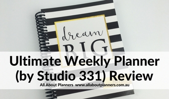 Review of the Ultimate Weekly Planner by Studio 331