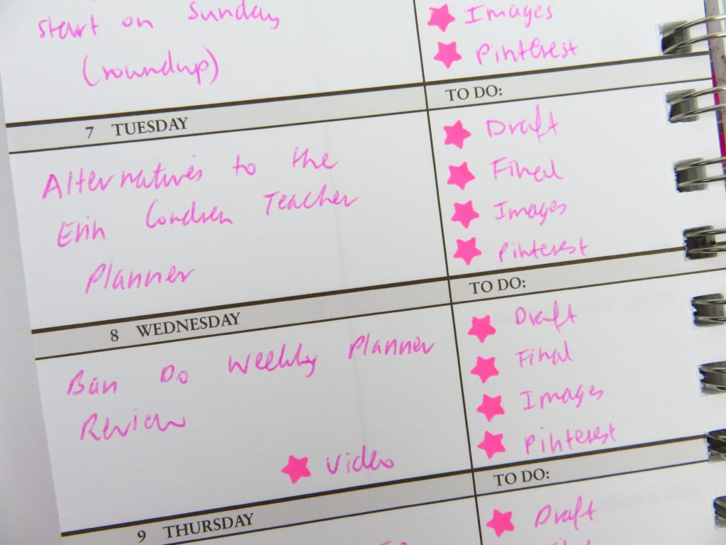 using planner stamps to keep track of blogging workflow content calendar scheduling organization color coding-min