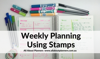 weekly planning using stamps organization color coding planner decorating minimalist mambi carpe diem review roller stamping diy