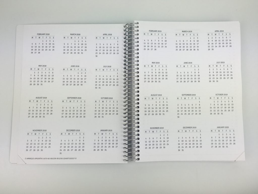 agendio planner review annual dates calendar monthly planning you choose day of the week pros and cons video review usa company simple colorful you choose categories sizing