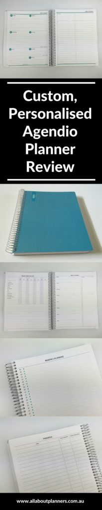 agendio planner review weekly personalised custom choose your own layout monday or sunday week start monogram extra pages