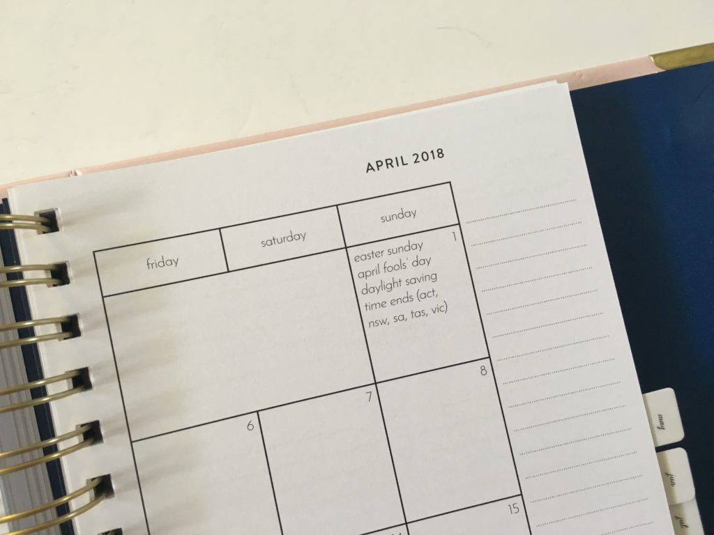 amelia lane planner 2 page monthly calendar funcational tabs divider a5 size made in australia simple minimalist horizontal weekly spread spiral hardcover monday start