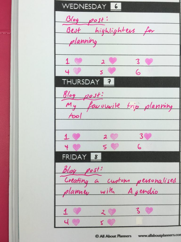 blog post planning printables organization frixion erasable stamp color coding workflow tracker printable all about planners-min