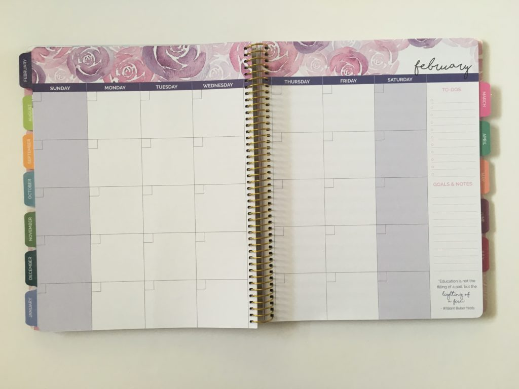 bloom teacher planner monthly calendar undated monthly planning checklist inspirational quotes organization teaching resource tool australia usa rainbow floral review pros and cons cheap